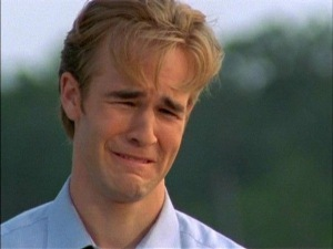 This Is James Van der Beek, which is a silly name, a.k.a Dawson Leery, which is less silly unless he's attempting to cry.